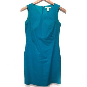 Turquoise Banana Republic Pleats Dress Petite 0